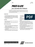 Prest O Lite Furnace LP Gas Melting 0 0900 E
