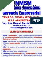 2013 II - GERENCIA EMPRESARIAL - CLASE Nº 07