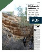 El balneario del búho. El barranco de La Casica, un mirador de la fauna y flora de Carrascoy.
