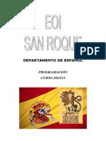 Programacion de español N AVANZADO 2012-13