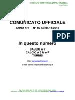 Bollettino 16 Empolese-Valdelsa 2013/14