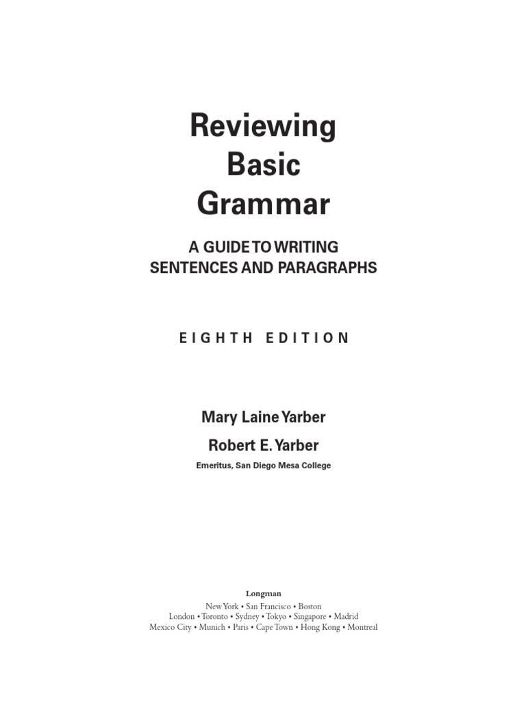ReviewingBasicGrammar-2009.pdf | Verb | Subject (Grammar)