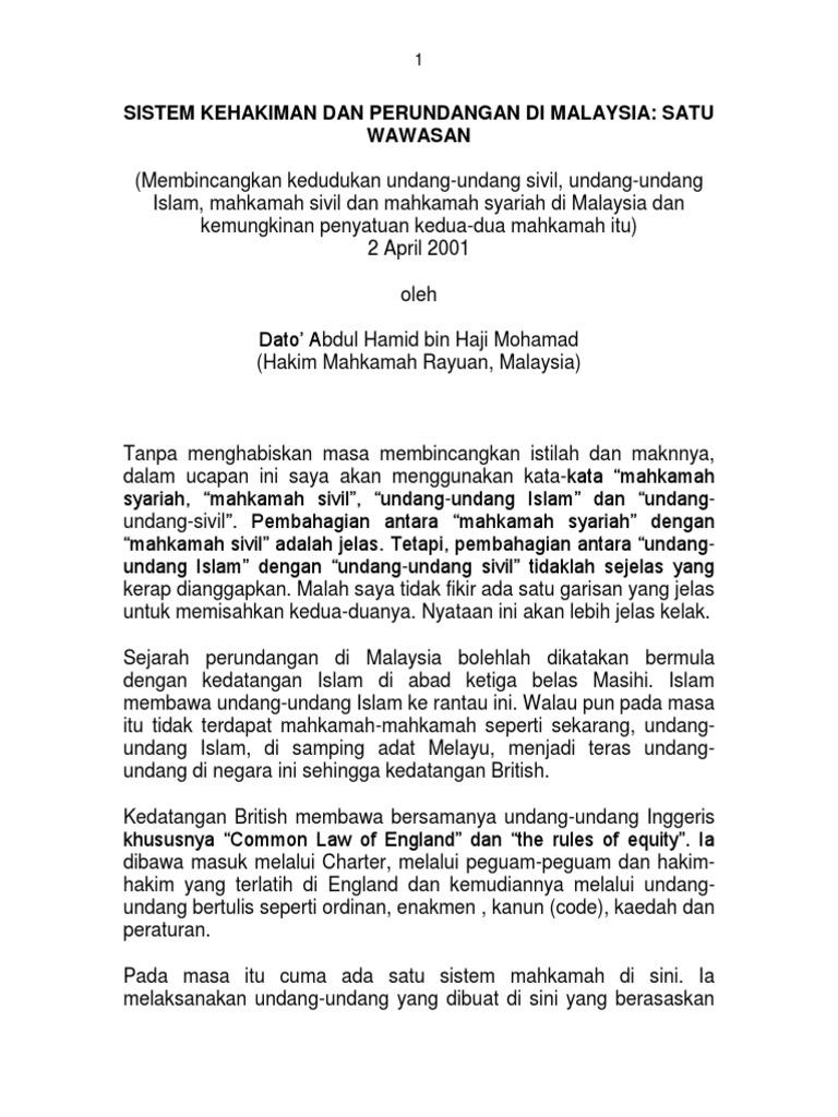Dokumen Serupa Dengan 32 Sistem Kehakiman Dan Perundangan Di Malaysia Satu Wawasan Pdf