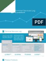 Terminal Services Log - Server Monitoring Tool Brochure