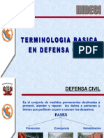 Tema 1 -Terminologia de Defensa Civil