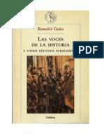 Guha, Ranahit - las Voces de La Historia- estudios subalternos