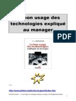 BI Piloter Bon usage des technologies expliqué au manager but