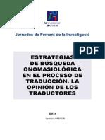 estrategias bsqueda onomasiolgica para traduccin