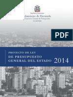 Proyecto de Ley de Presupuesto 2014
