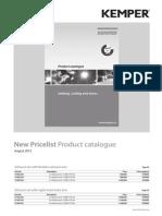 Kemper Pricelist Product Catalouge 2013 Euro En