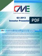 Cme q3 2013 Investor Presentation