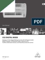 behringer x32 инструкция на русском
