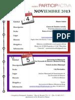 Agenda Participactiva Noviembre 2013