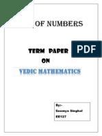 (mid term1) singhal-Vedic Mathematics.docx