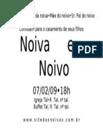 Convite Casamento Bauhaus Romitec Ipanema