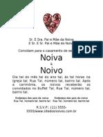 Convite Casamento Romantico Romitec Ibirapuera