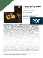 Exposition La Renaissance et le Rêve au Musée du Luxembourg - dossier de presse