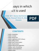 The ways in which ict is used