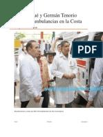 20/10/13 elsoldelitsmo Gabino Cué y Germán Tenorio entregan ambulancias en la Costa