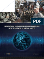 DoD Social, Culture, Behavioral Science Research and Engineering
