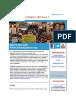 PublicSchoolOptions.org November 2013 Newsletter