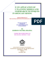 A Study on Application of Strategic Planning Models and or in Mining - Phd Thesis