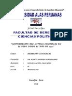 Antecedentes del Sistema Concursal en el Perú desde el año 1992