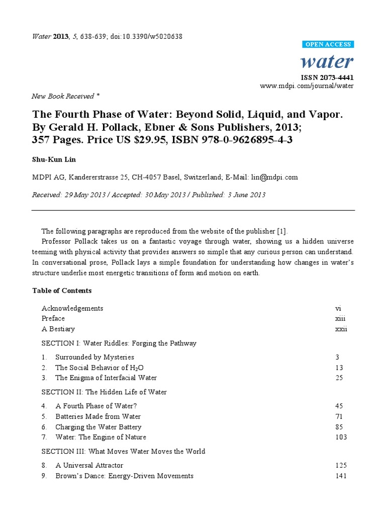 fourth phase of water beyond solid liquid vapor