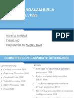 Birla Commitee Report on Corporate Governance
