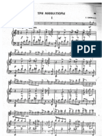 Sinisalo 3 Miniatures for Flute and Piano; Piano score