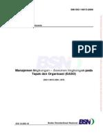3766_SNI ISO 14015_2009 (Manajemen Lingkungan n++ Asesmen Lingkungan Pada Tapak Dan Organisasi (EASO))
