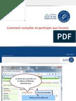 comment consulter et participer aux forum (Informatique S3)