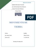 DISEÑO Y CALCULO DE MOVIMIENTO DE TIERRA