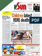 thesun 2009-08-03 page01 children latest h1n1 deaths
