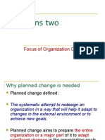 2 Focus of Organization Change