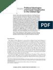 Political Ideologies and Social Imaginaries in Te Global Age