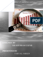 performance of monetary policy