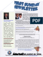 first sunday newsletter page 1
