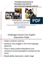 Using Formative Assessment to Differentiate Instruction & Meet the Needs of Second Language Learners