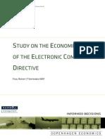 Μελετη Οικονομικης Επιπτωσης Οδηγιας Ηλεκτρονικό Εμπόριο