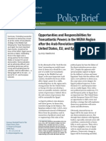 Opportunities and Responsibilities for Transatlantic Powers in the MENA Region after the Arab Revolutions