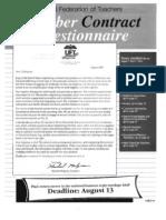 UFT Contract Questionnaire