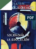 Sociología de la Educación - Antología