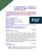 ITC MIE-APQ-5. Almacenamiento y utilización de botellas y b