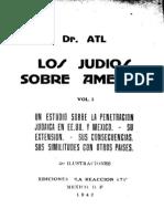 Los Judios Sobre America   Dr. Atl