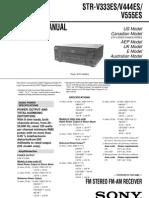 Sony audio STR-V333ES/V444ES/V555ES