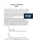 Use of HPLC in Food Industry Group F