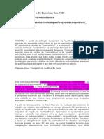 Dubar - A sociologia do trabalho frente à qualificação e à competência