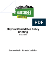 My Main Street My Boston Mayoral Candidates Briefing