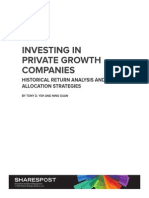 Research Brief - Private Growth Company Investing 2013